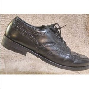 Florsheim Lexington Black Wingtip Oxfords 10 D